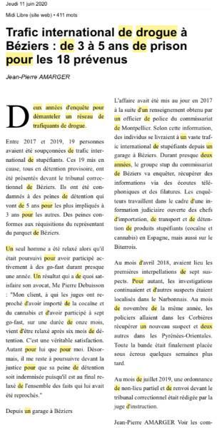 GO-FAST ET TRAFIC DE DROGUE INTERNATIONAL DE CANNABIS ET DE COCAINE : RELAXE